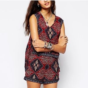 Free People Dahlia Dreams Lace Up Side Tank Top